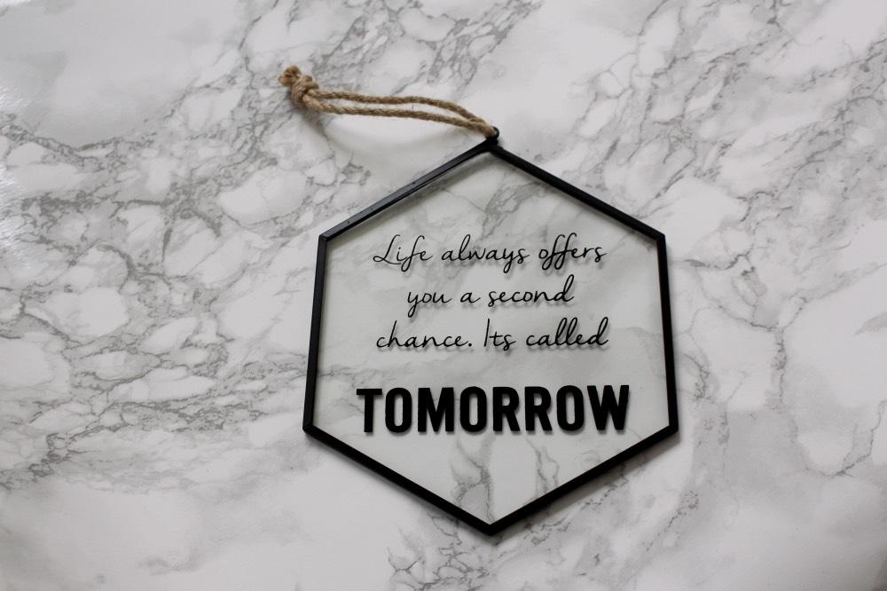 tekstbord glas quote