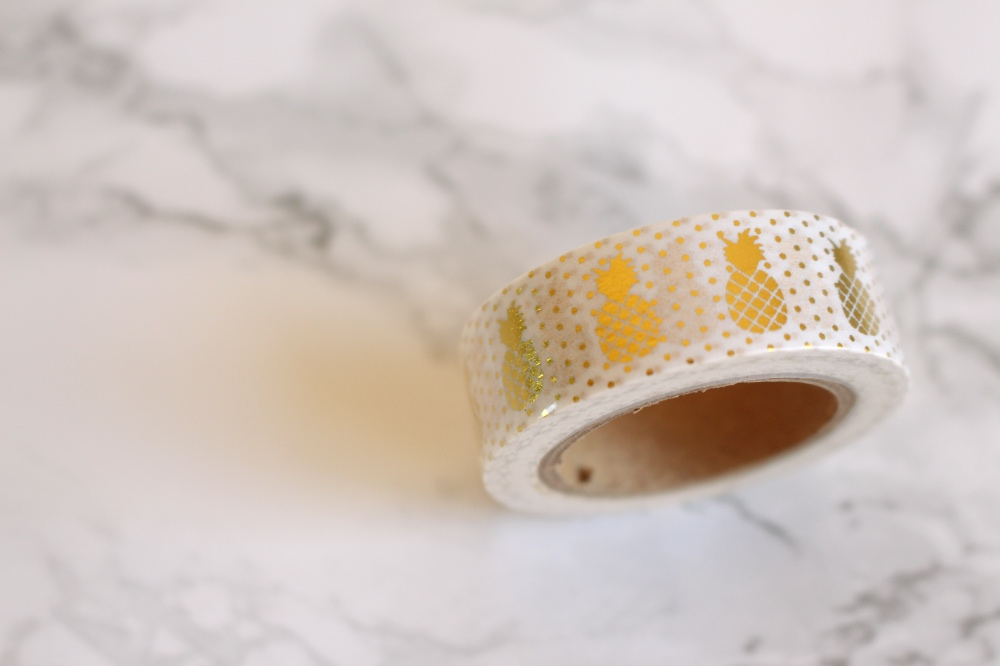Studio Stationery: Washi Tape gold Ananas