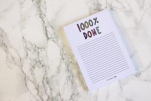 1000% done notitieblok