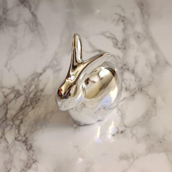 Zilveren paashaas