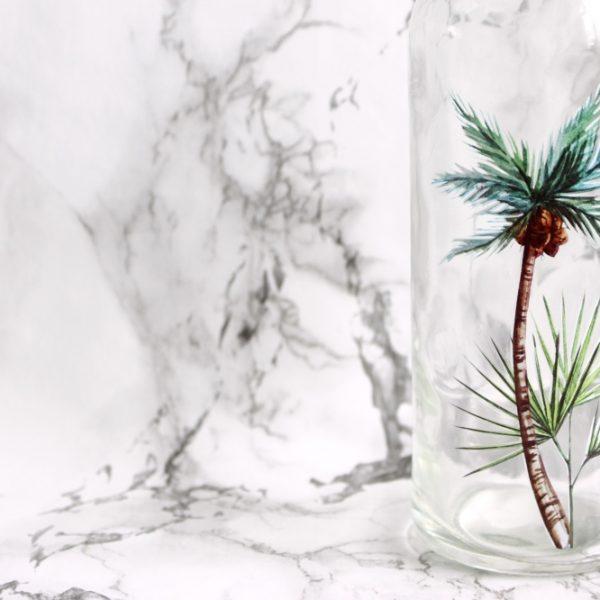 zomerse vaas palmboom