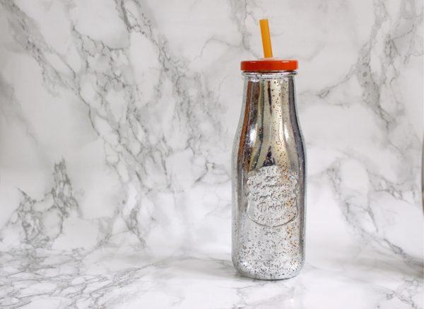 Zilveren drinkflesje
