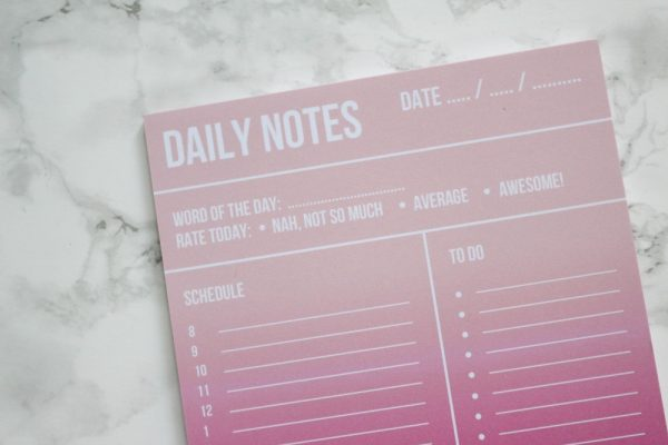 Planblok daily notes