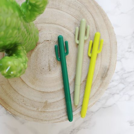 Cactus pen (in drie kleuren)