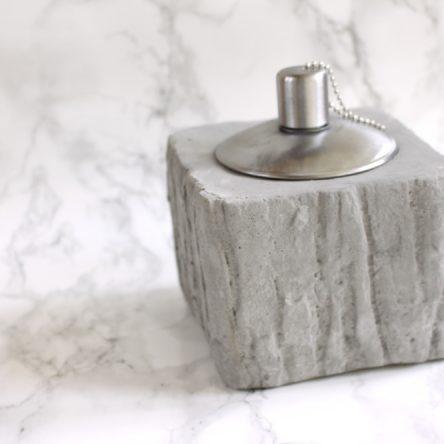 Olielamp van beton