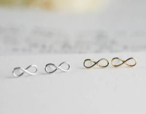 Infinity sign oorbellen