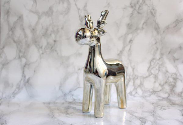 Rendier beeldje zilver goud
